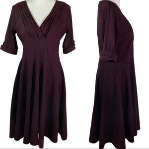 NWOT Unique Vintage Deep Burgundy Dress- 1X / 16